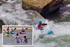 Kayak di Sungai Panjshir Afghanistan